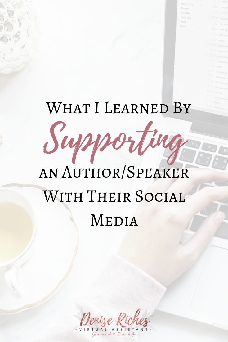 What I Learned By Supporting an Author/Speaker With Their Social Media