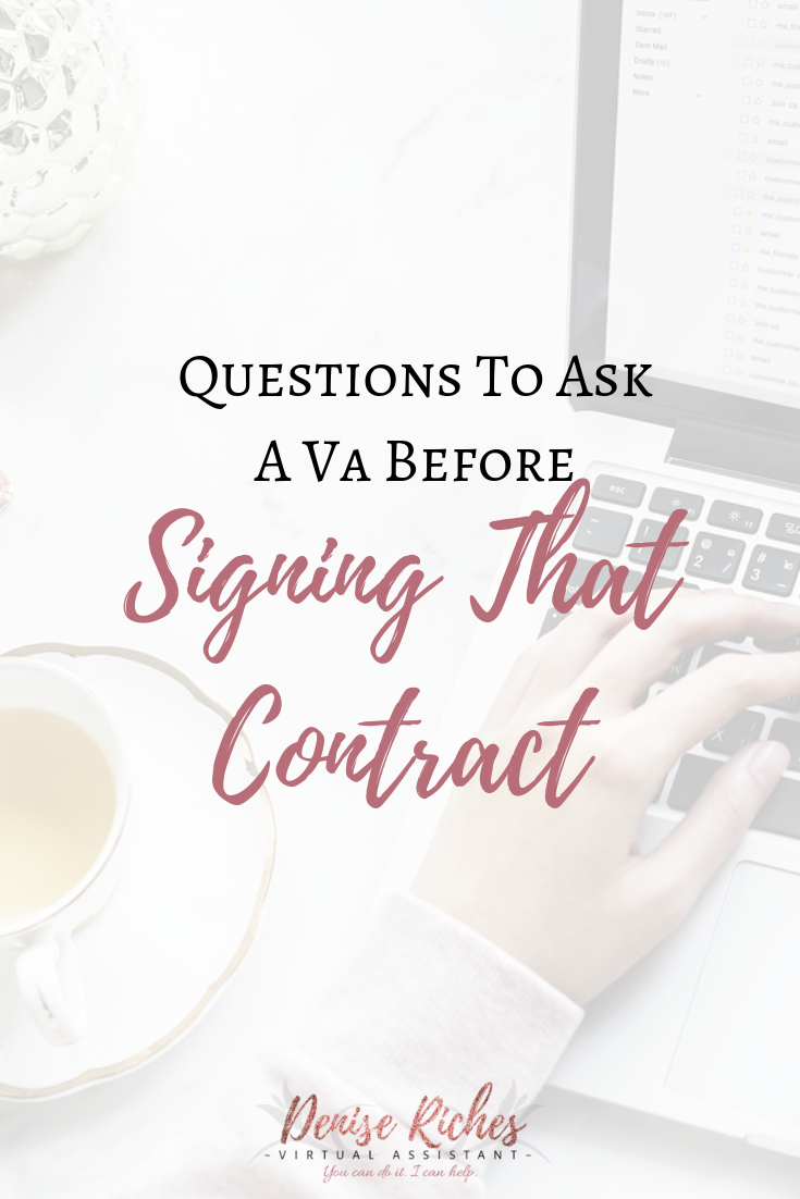 Questions to Ask a VA Before Signing That Contract