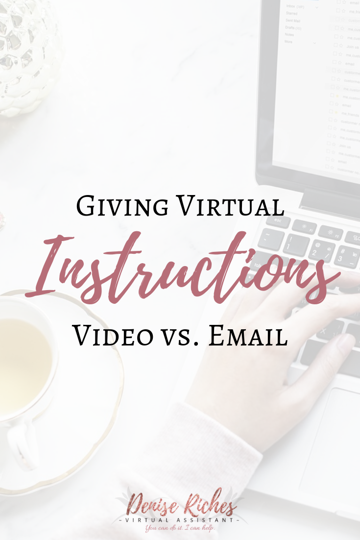 Instructions: Video vs. Email
