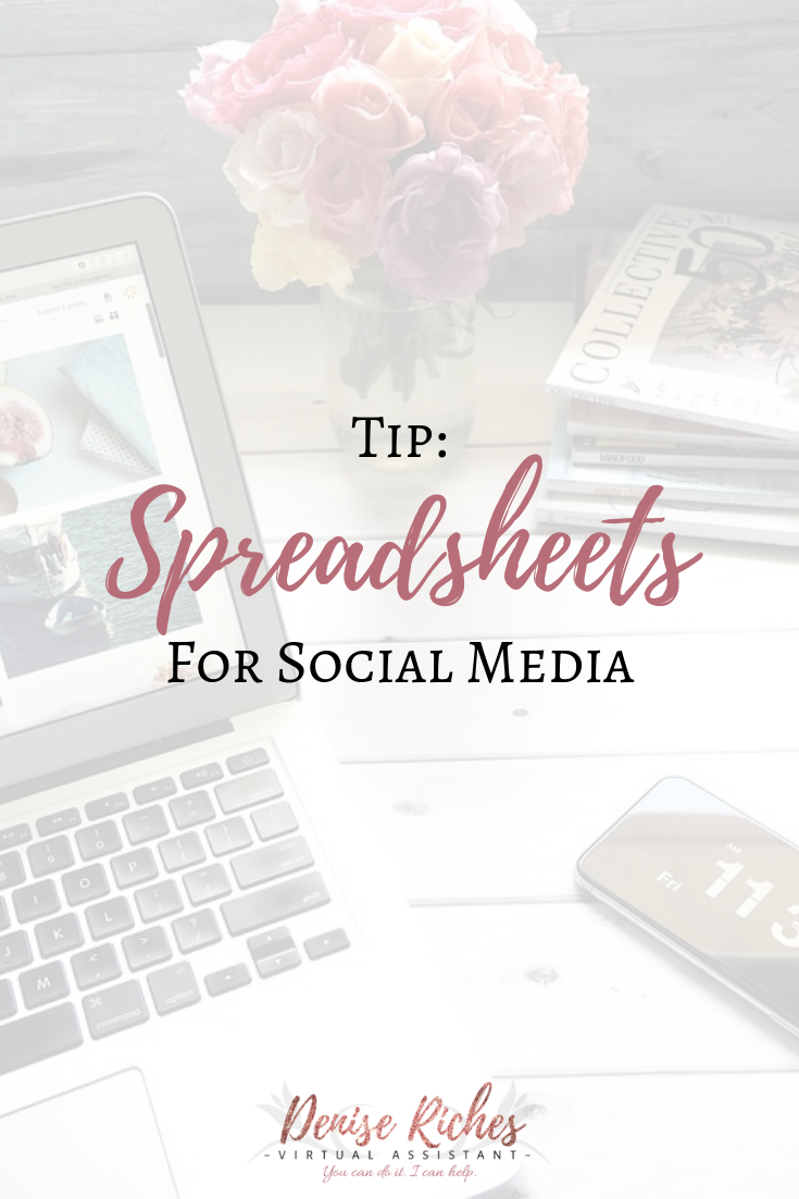 Tip: Spreadsheets for Social Media