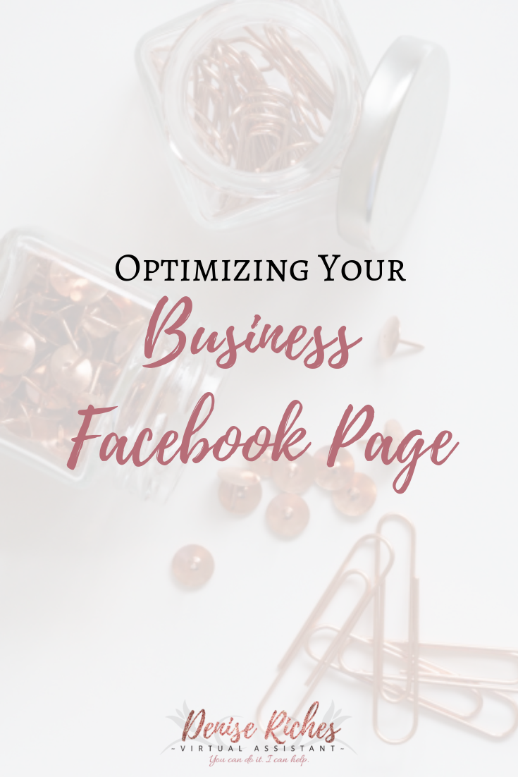 Optimizing Your Business Facebook Page