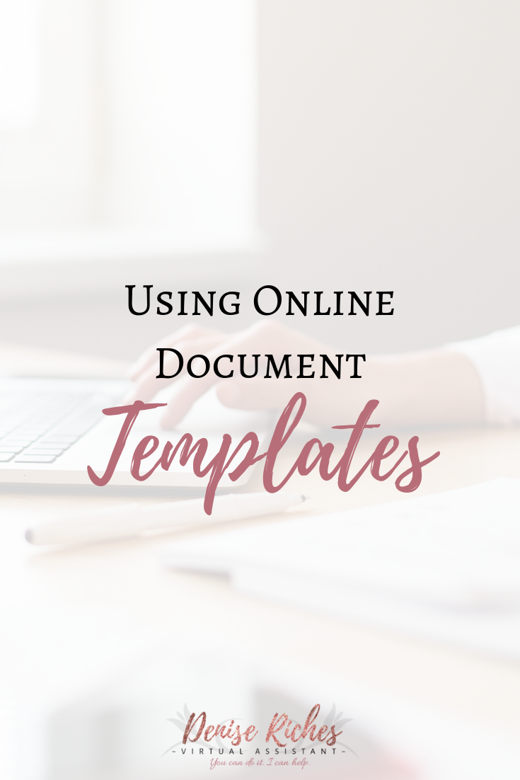 Using Online Document Templates