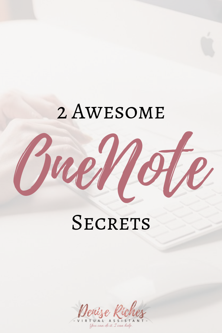 2 Awesome OneNote Secrets