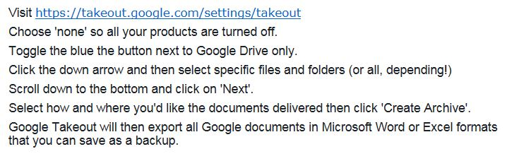 Google Takeout - Denise Riches | VA